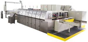 Wholesale power stacker: Automatic Flexo Printer Slotter Rotary Die Cutter and in-Line Folder Gluer