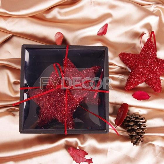 Sell Shiny Red Hanging Star Vintage Gift