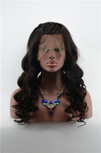 Wholesale Hair Accessories: Body Wave Virgin Human Hair Wet and Wavy Lace Wig for Black Women