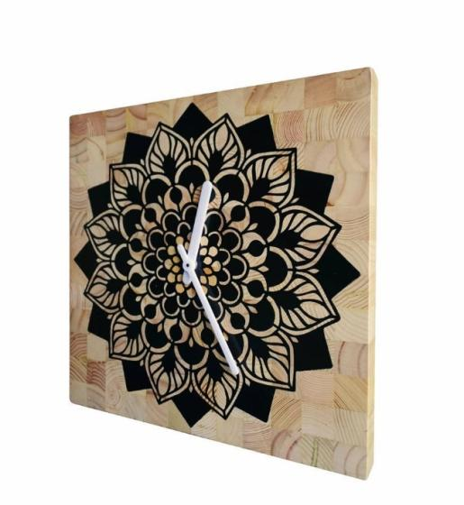 Sell Modern Minimalist Natural Finishing Pinewood Garden Clock 2