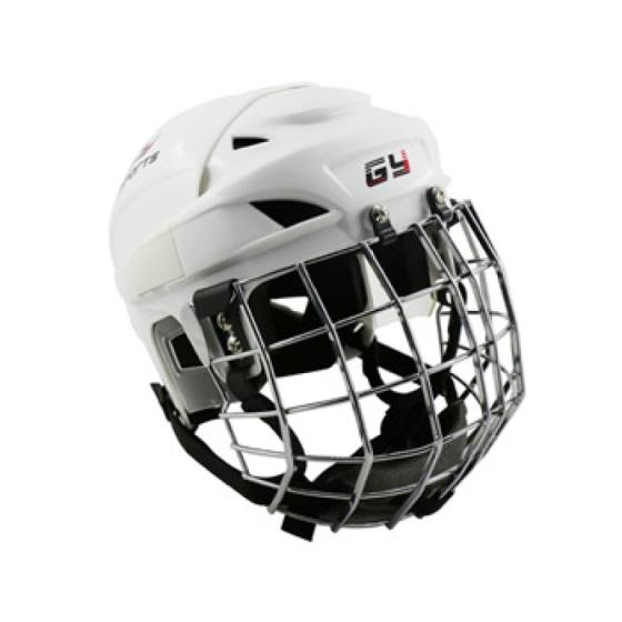 China PP Ice Hockey Helmet Vented Design Cooling System with Cage Mask Combo