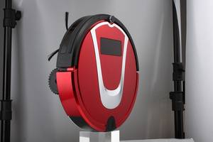 Wholesale robot mop: OEM Self Program Red Smart Robotic Vacuum Cleaner with Wireless Auto Charging, Remote Control