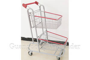 Wholesale two: Two Basket Shopping Cart