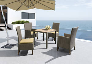 Wholesale dining set: Modern Design Outdoor Furniture Rattan Weaving Dining Set