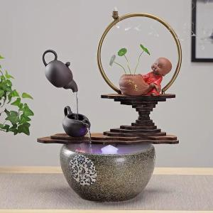 Wholesale gifts: Chinese Creative Ceramic Monk Shuifeng Shui Lucky Money Decorations Sitting Room Office Opening Gift