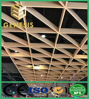Heat Resistant Metro Station Decorative Open Cell Ceiling Aluminum Grid Ceiling Tile