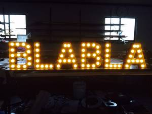 Wholesale led channel letter: LED Bulb Channel Letter