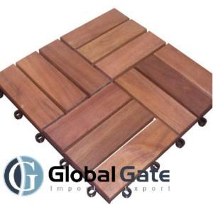 Wholesale Tiles: 12 Slats Wood Deck Tiles