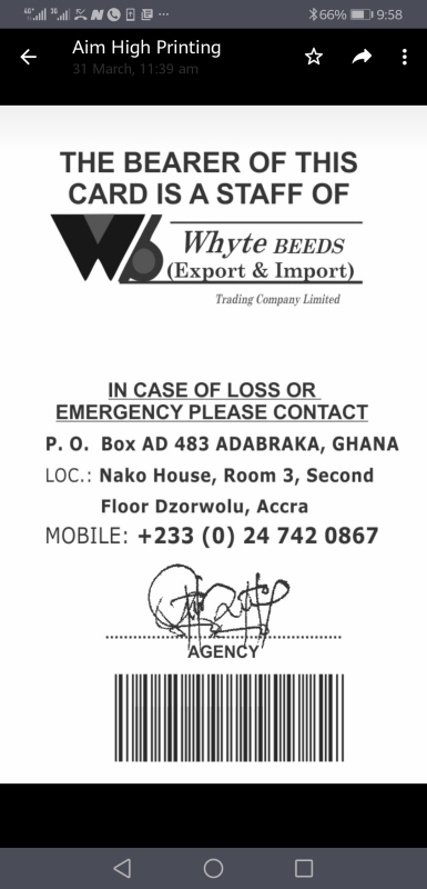 Whyte Beeds Trading Company Limited