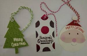 Wholesale string tag: Glitter Tag with String