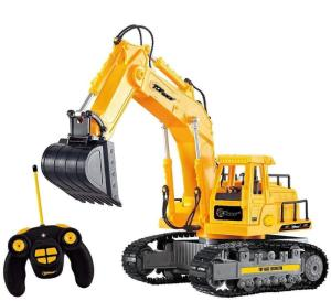 Wholesale bulldozer: Remote Control Excavator RC Toy Bulldozer Tractor Truck Metal Digger Toy for Boy