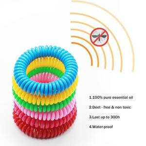 Wholesale mosquito: Amazon Hot Sale 100%Natural Transparent anti citronella Mosquito Repellent band