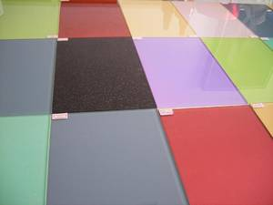 Wholesale contemporary furniture: 3-8mm Color Lacquered Glass