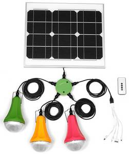 Wholesale camping: Solar Panel Lighting System Kit Home Camping Outdoor