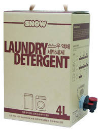 Wholesale biodegradable plastic bags: SNOW Laundry Detergent 4L(Bag in Box)