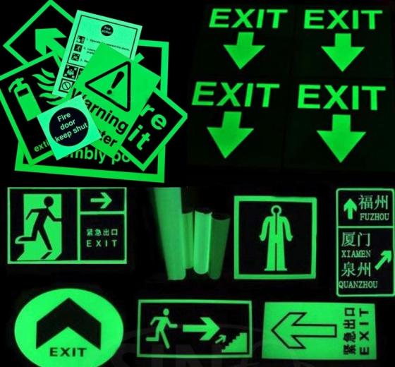 Sell luminescent safety sign,exit sign ,glow fire safety sign