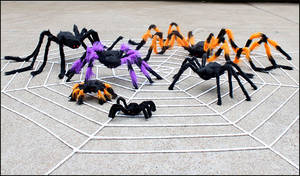 Wholesale creative toys: Halloween Spider Toys Bar Prop Toys Creative Haunted House Party Plush Colorful SpidersHalloween