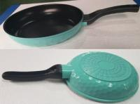 Aluminum Die Casting Frying Pan + Glass Lid (Not Included)