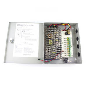 Wholesale cctv power supply box: 9 Channel 12V 10A CCTV Power Supply Box