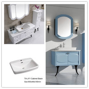Wholesale ceramic basin: Taitao Ceramic Vitreous China Bathroom Cabinet Basins Semi-accessed Vessel Lavatory Sink