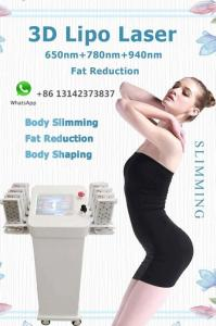 Wholesale 3d lamp base: Lipo Laser Slimming Machine 650nm 780nm 940nm 3D Lipolaser Fat Removal Body Shaping Skin Tightening