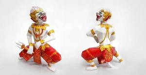 Wholesale d: 3D Paper Craff Model DIY Kit Hanuman Thai Toy Monkey Chief Sildier Epic Story