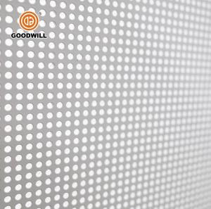 Wholesale brushed metallized film: Decorative Aluminum Waterproof Ceiling Tile Perforated Metal Sheet for Commercial Building