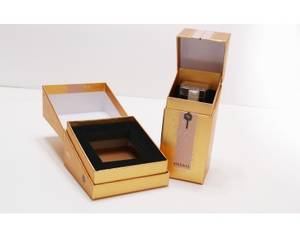 Wholesale cosmetic: Cosmetic Gold Foil Paper Box