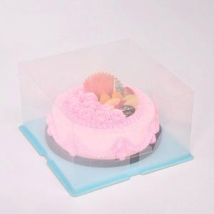 Wholesale recycled paper gift boxes: Transparent Cake Boxes
