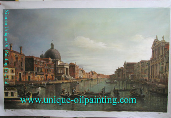 Venice Building Oil Painting