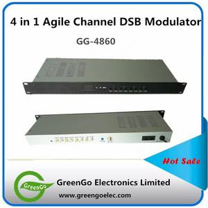 Wholesale dvb: GG-4860 4 Ways Agile RF DVB-C CATV Modulator