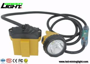 Wholesale led security light: Explosion Proof IP 68 LED Mining Lamp with Security Cable Light , 28000 Lux Miners Cap Lamp