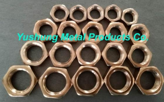 Silicon Bronze 7//16-14 3 pcs Hex Finished Nuts
