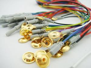Wholesale cup plate: Greentek Gold Plated EEG Cup Electrodes Coated Gold Electrodes