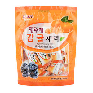 Wholesale Jelly: JEJUAE Mandarin Jelly 200g Taste Nutrition Scent Delicious Sweet Snack Candy Mouth-watering Gift