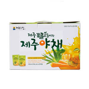 Wholesale fruit & vegetable juice: Non-pesticide Tangerine in Fresh Vegetables of Jeju (100ml X 15ea) Fresh Fruit Juice Vegetable Tasty