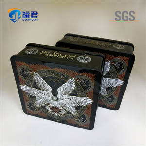 Wholesale cd tin: Classical Rectangular Metal Tin CD DVD Case