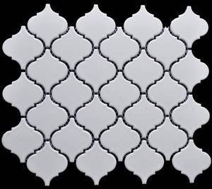 Wholesale white porcelain: White Lantern Shape Porcelain Mosaic