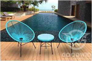 Wholesale leisure chair: GW3219 Garden Furniture Leisure Set Colorful Egg Chair