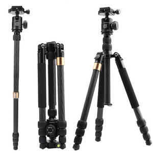 Wholesale carbon fiber oem: 2017 New  OEM Welcome Professional Carbon Fiber Camera Tripod Q668SC for Digital Dslr Camera