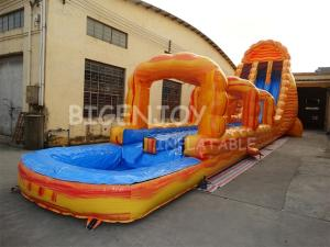 Wholesale marble: Long Marble Gaint Inflatable Water Slide for Adults