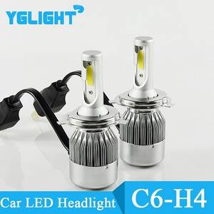 Wholesale car headlights led bulb: Yglight C6 Car LED Headlight Kit H4 LED Light Bulb 36W 3000LM