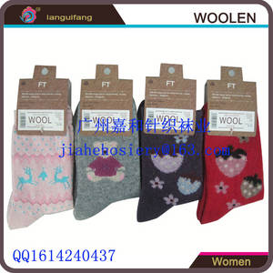 Wholesale Socks & Stockings: Custom Knitted Women Colorful Wool Socks