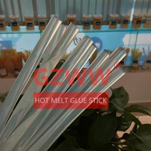 Wholesale hot melt glue: GZWW  Manual 7mm 11mm Diameter Transparent Hot Melt Glue StickStrong Viscosity