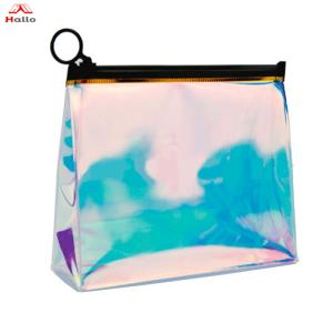 Wholesale Makeup Tool: Laser Iridescent Holographic Clear Shiny Cosmetic Bag Rainbow Laser PVC Makeup Organizer Pouch