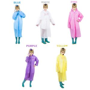 Wholesale raincoat: Unisex Cloak Foldable Reusable EVA Waterproof Rain Poncho Raincoat