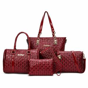 Wholesale leather handbag: Women Set Bag PU Leather Handbags