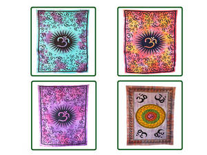 Wholesale wall hanging tapestry: Handicrunch | Indian Om Printed Wall Hanging Tapestry