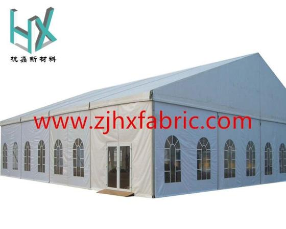 Sell 850gsm blockout PVC tarpaulin tent outdoor fabric excellent physical