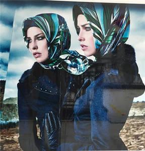 Wholesale square silk scarf: Lurex Glitter Hijab Scarf